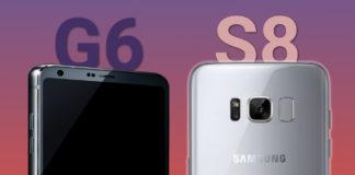 Galaxy S8 LG G6 comparison