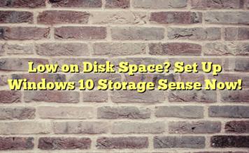 Windows 10 Creators Update Storage Sense