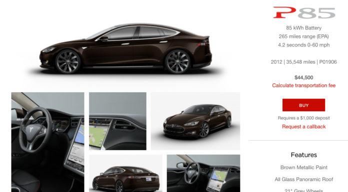 Tesla Model S P85 Used Inventory