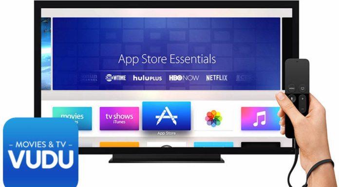 Vudu on Apple TV August 22, 2017