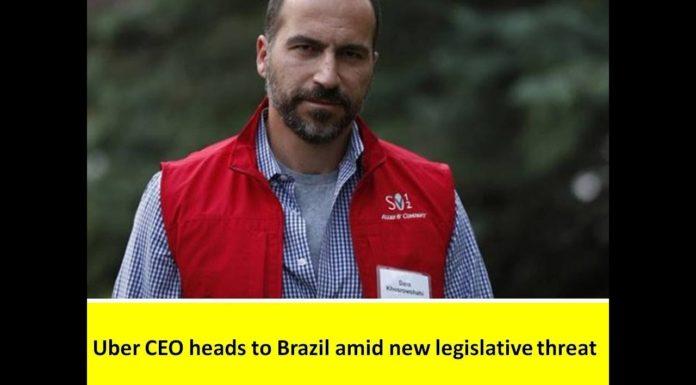Uber CEO in brazil