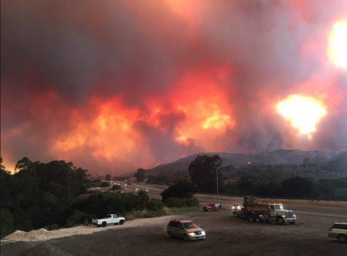 Carpinteria, Montecito evacuated as California's Thomas Fire grows to 173000 acres