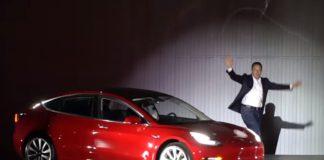 Elon Musk with Tesla Model 3