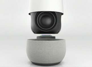 Google Home with speaker in view