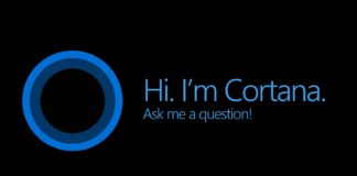 Microsoft Cortana screenshot