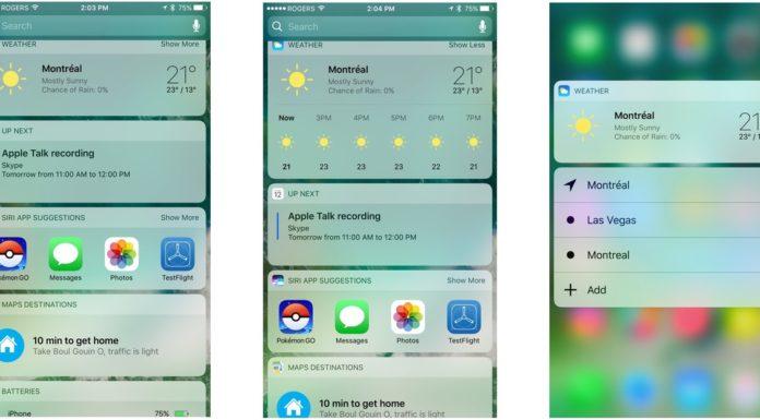 iOS 10 screen shots