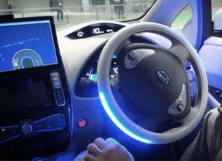driverless car being tested in Milton Keynes, United Kingdom