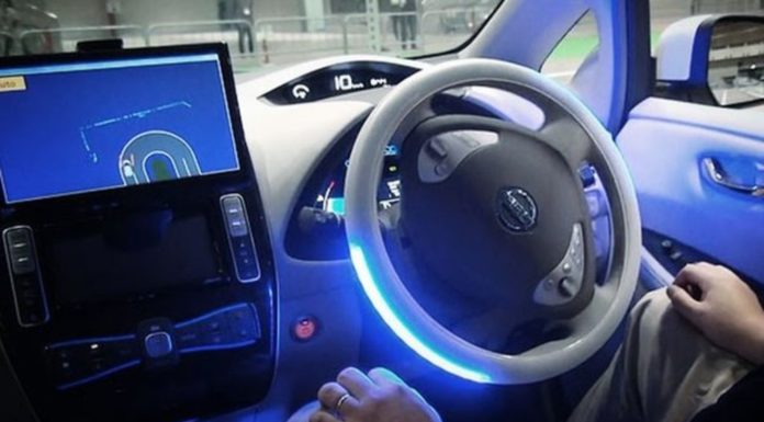 driverless car being tested in Milton Keynes, United Kingdom