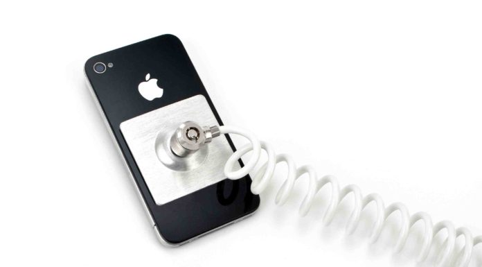 iPhone security tether security cable