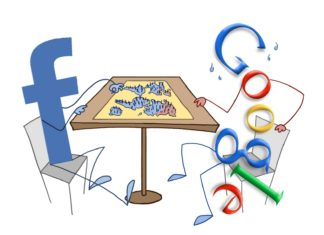 facebook google online advertising war