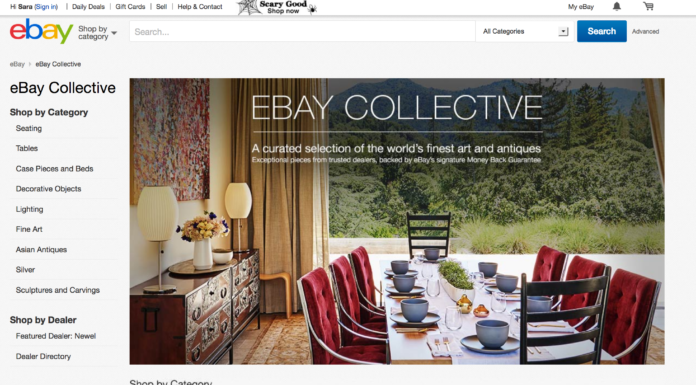 eBay Collective, a new portal for curated antiques, furniture and art