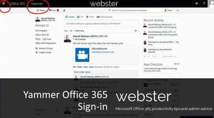 Yammer Office integration