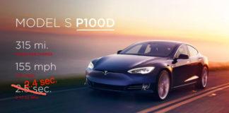 Tesla Model S P100D 0-60mph in 2.4 seconds