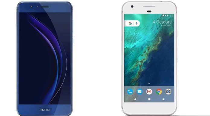 Android Face-off: Google Pixel versus Huawei Honor 8