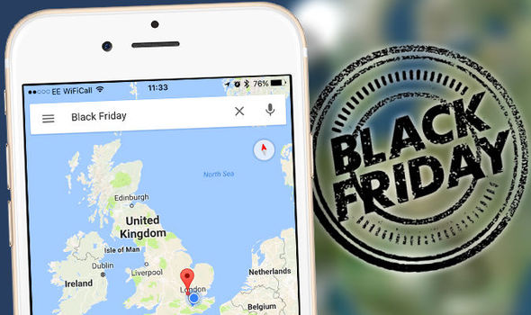 New Black Friday feature on Google Maps