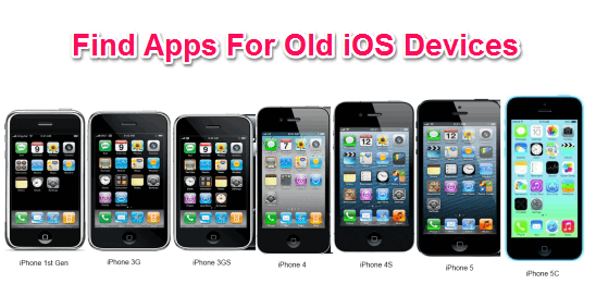 How to find apps for older iOS versions