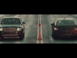Faraday Future beats Bentley, Ferrari and Tesla in a drag race. New electric SUV unveiling at CES 2017 on January 3, 2017