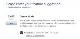 Game Mode Windows 10 Creators Update