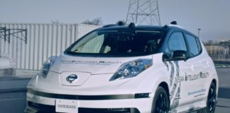 Nissan LEAF electric vehicle with SAM, taken from NASA AI tech