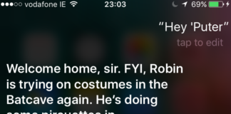Apple Siri updated with contextual content from the LEGO Batman Movie - just say Hey, Computer