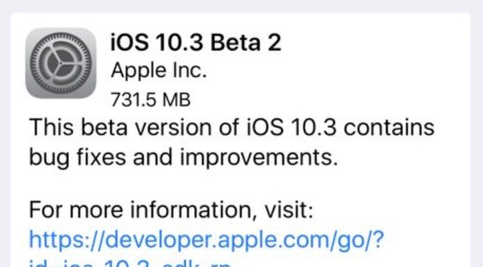 iOS 10.3 beta 2 for public beta testers and developers