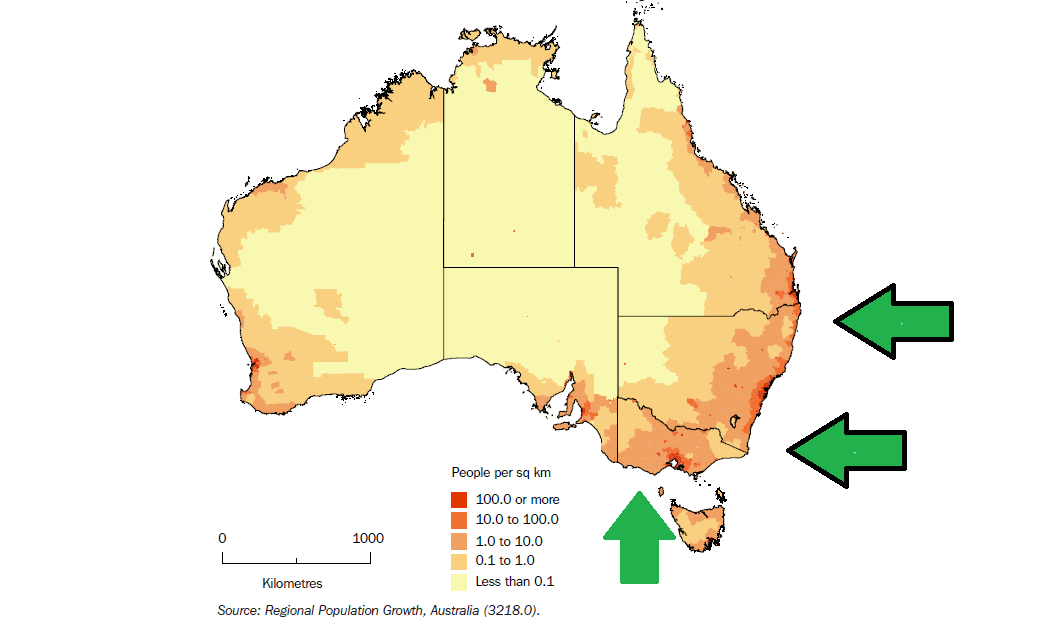Why Amazons Success In Australia Is Almost Guaranteed RedDrop - Australia population density map 2015