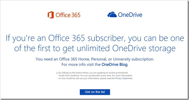 OneDrive storage for Office 365 users being reset to 1TB