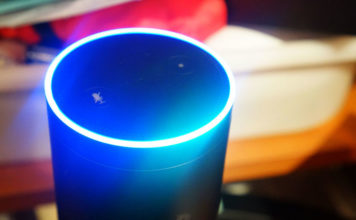 amazon alexa on amazon echo smart speaker
