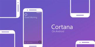 cortana v2.6.0 on android lock screen above the lock