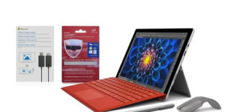 Surface Pro with accessories