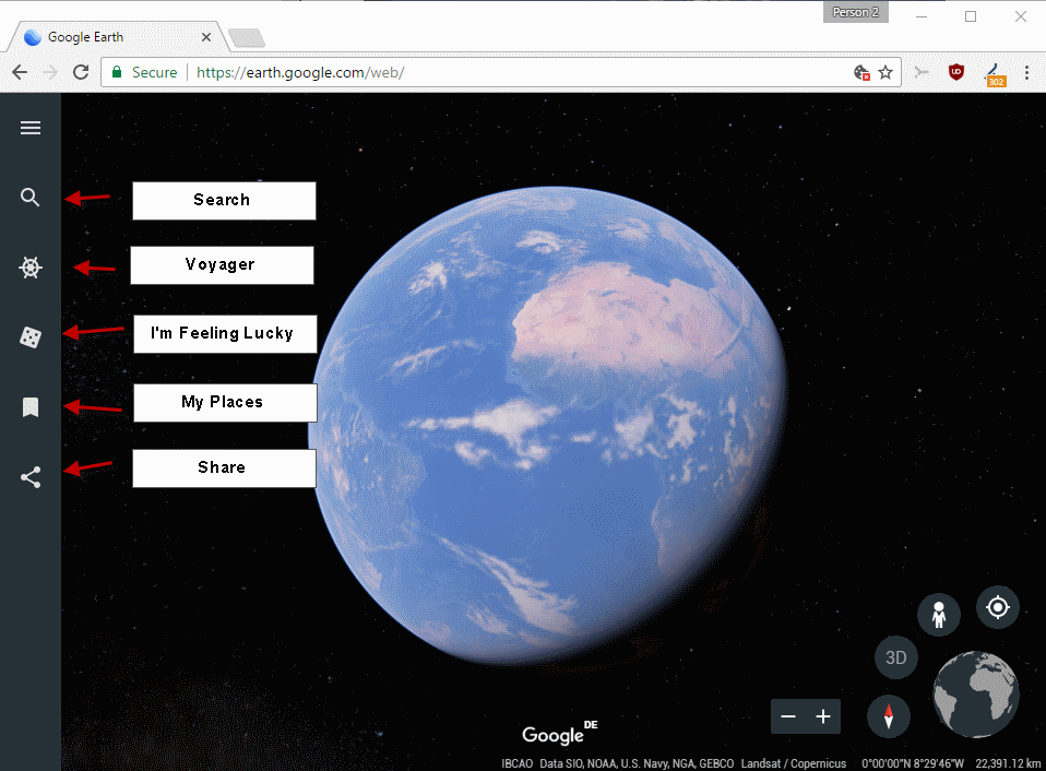 New Google Earth Web App exclusive to Google Chrome browser