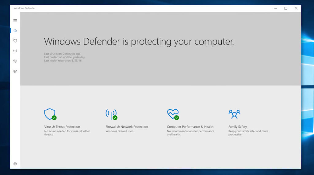 windows 10 upgrade brings new windows defender security center