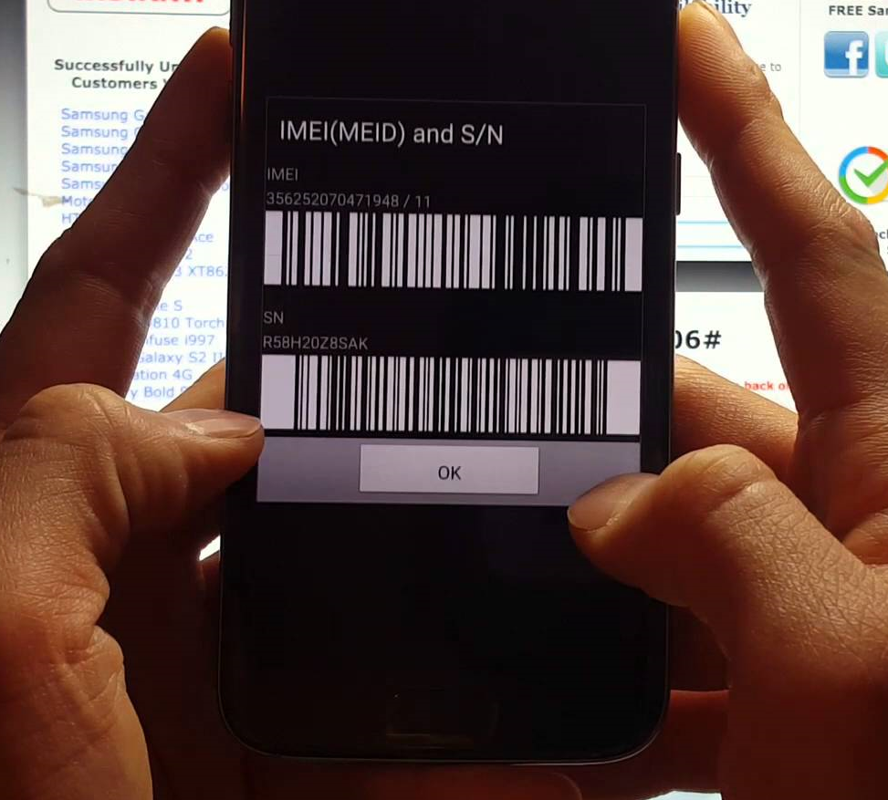 Find my samsung mobile by imei number