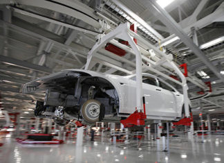 Tesla Fremont EV production