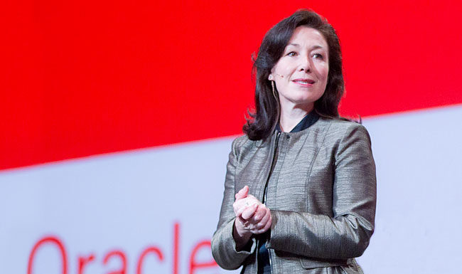 Safra Catz Oracle CEO criticizes AWS cloud computing offerings