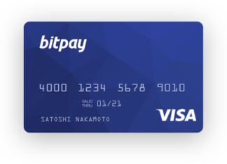 BitPay app on Windows 10 Mobile