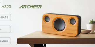 archeer a320 home speaker with bamboo baffle