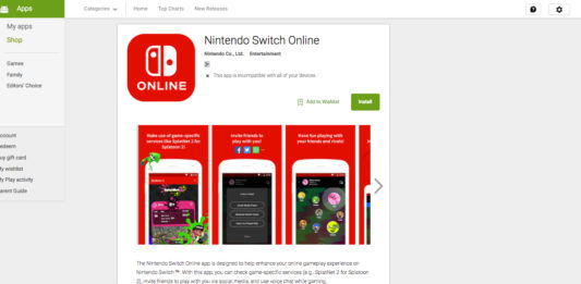 Nintendo Switch Online mobile apps for iOS and Android