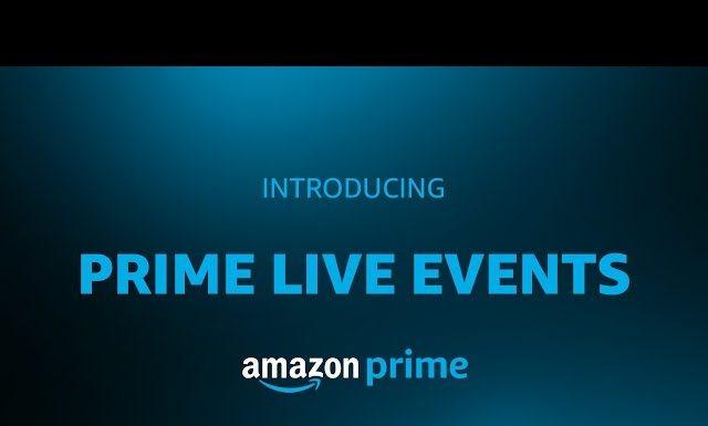 Amazon Prime Live Events
