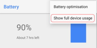 Android Oreo battery stats