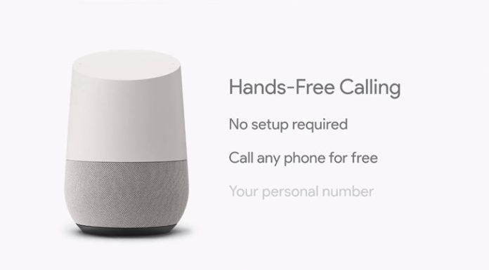 Google Home phone calls