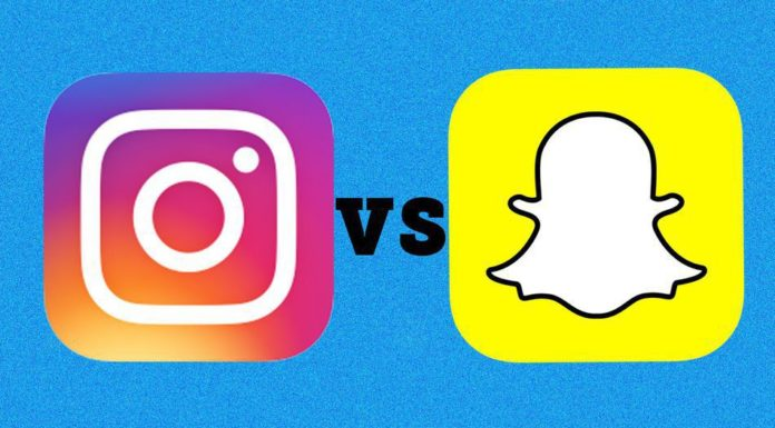 Snapchat and Instagram
