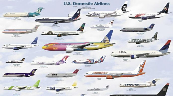 us domestic airlines