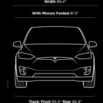 Tesla Model X exterior dimensions