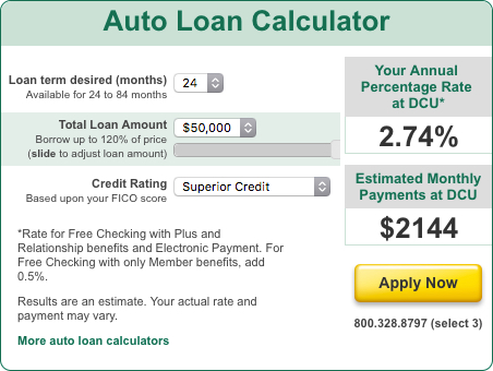 Dcu Auto Loan Calculator >> Dcu Mortgage Rates