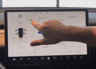 Model 3 touchscreen Tesla Software
