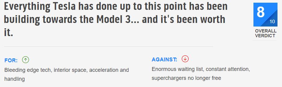 TopGear Model 3 Review