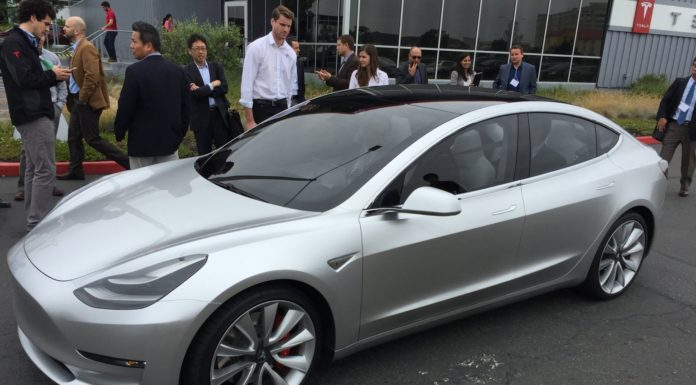 Used Tesla Model 3 demo car