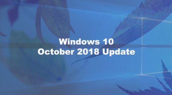 Windows 10 October 2018 Update